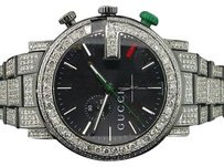 Gucci Diamond Gucci Watch Ya101331 Mens 16.50 Ct Custom G Chronograph Fully Iced Band