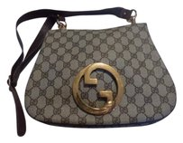 Gucci Equestrian Accents Excellent Vintage Blondie Large G Logo Print Hobo Bag