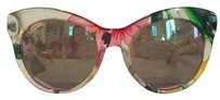 Gucci Floral Cat Eye Mirrored Sunglasses