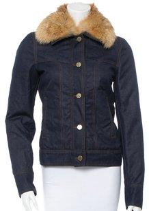 Gucci Fur Dark blue Womens Jean Jacket