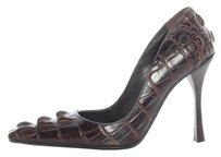 Gucci Gc.j0224.08 Brown Alligator Pumps