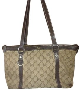Gucci Gg Abbey Vintage Monogram Lv Tote in Brown
