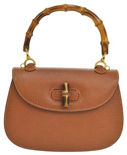 Gucci Gg Logos Bamboo Hand Tote in Brown, Gold