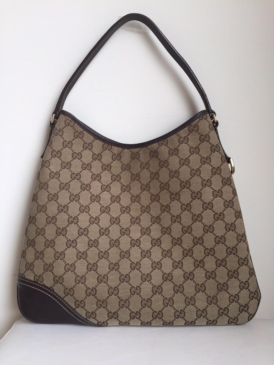 Gucci Monogram New Britt Medium Hobo Bag on Sale, 43% Off | Hobos ...