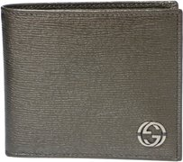 Gucci GUCCI 256334 Men's Interlocking G Bi-fold Leather Wallet