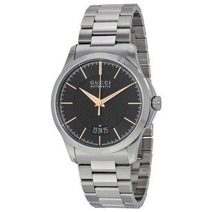 Gucci Gucci Automatic Black Dial Stainless Steel Mens Watch