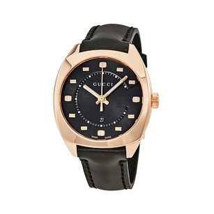 Gucci Gucci Black Dial Rose Gold-tone Ladies Watch