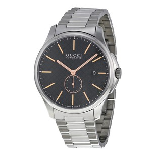 Gucci Gucci Black Dial Stainless Steel Mens Watch