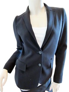 Gucci Gucci Black Stretch Wool Blend Blazer Jacket Or
