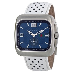 Gucci Gucci Blue Dial Leather Strap Mens Watch