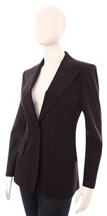 Gucci Gucci Brown Black Wool Dress Suit Jacket Blazer Coat Neiman Marcus 448m