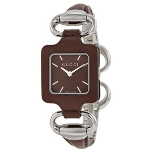 Gucci Gucci Brown Dial Leather Ladies Watch