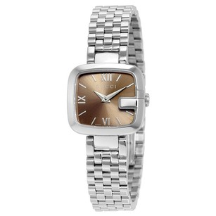Gucci Gucci Brown Dial Stainless Steel Ladies Watch