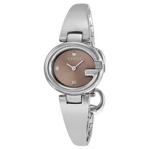 Gucci Gucci Brown Diamond Dial Steel Ladies Watch