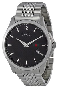 Gucci GUCCI G-Timeless Black Dial Stainless Steel Men's Watch YA126309