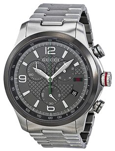 Gucci Gucci G Grey Dial Timeless Stainless Steel Mens Watch