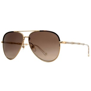 Gucci Gucci GG Gold/Havana w/ Crystals Women's Aviator Sunglasses