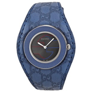 Gucci Gucci Grey Dial Leather Ladies Watch