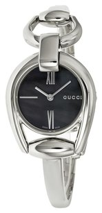 Gucci GUCCI Horsebit Collection Black of Pearl Dial Steel Ladies Watch