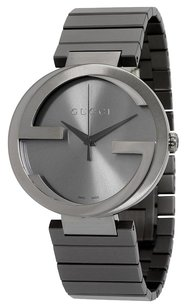 Gucci GUCCI Interlocking G Anthracite Dial Grey PVD Men's Watch YA133210