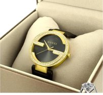 Gucci Gucci Interlocking G Mens Gold Tone 2.2ct Diamonds Swiss Quartz Watch Ya133208