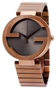 Gucci GUCCI Interlocking XL Brown Dial PVD Stainless Steel Men's Watch