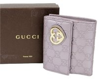 Gucci Gucci LOVELY Guccissima Leather Heart French Wallet