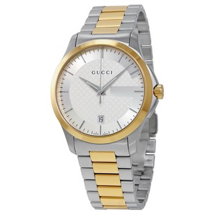 Gucci Gucci Silver Dial Two Tone Unisex Watch