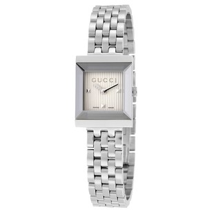 Gucci Gucci Silver Guilloche Dial Ladies Watch