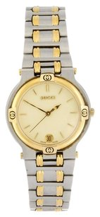 Gucci GUCCI Two-Tone Stainless Steel Gold Tone Dial Date Watch