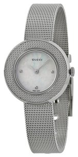 Gucci GUCCI U-Play Diamond of Pearl Dial Stainless Steel Ladies Watch