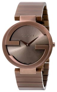 Gucci Interlocking G Brown Dial Brown PVD Men's Watch YA133317