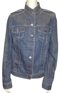 Gucci 100 Cotton Stand Collar Button Down Casual Jean Hs3016 Womens Jean Jacket