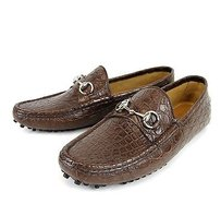Gucci Gucci Mens Crocodile Horsebit Driver Moccasin Loafer 13g/us 13.5 236936