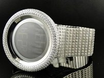Gucci Mens 52mm Bezel I Gucci Digital White Genuine Diamond Watch Ct