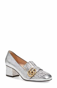 Gucci Metallic silver Pumps