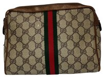 Gucci Monogram Cosmetic Case Make Up Bag GGTL66