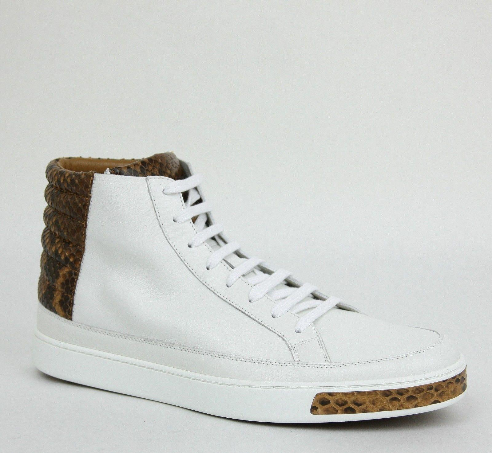 gucci shoes for men low tops. gucci men\u0027s high-top sneakers with python trim 375084 9066 13 g / us shoes for men low tops