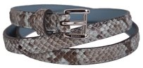 Gucci New Gucci Women's $395 331689 Degrade Python Snakeskin Skinny Belt 34 85