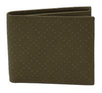 Gucci NIB GUCCI 260987 Men's Diamante Leather Bifold Wallet, Bengal