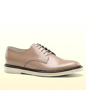 Gucci Mens Leather Cirano Lux Lace-up Oxford Chalk 9.5 281937