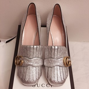Gucci Silver Argento / Gold GG hardware Pumps