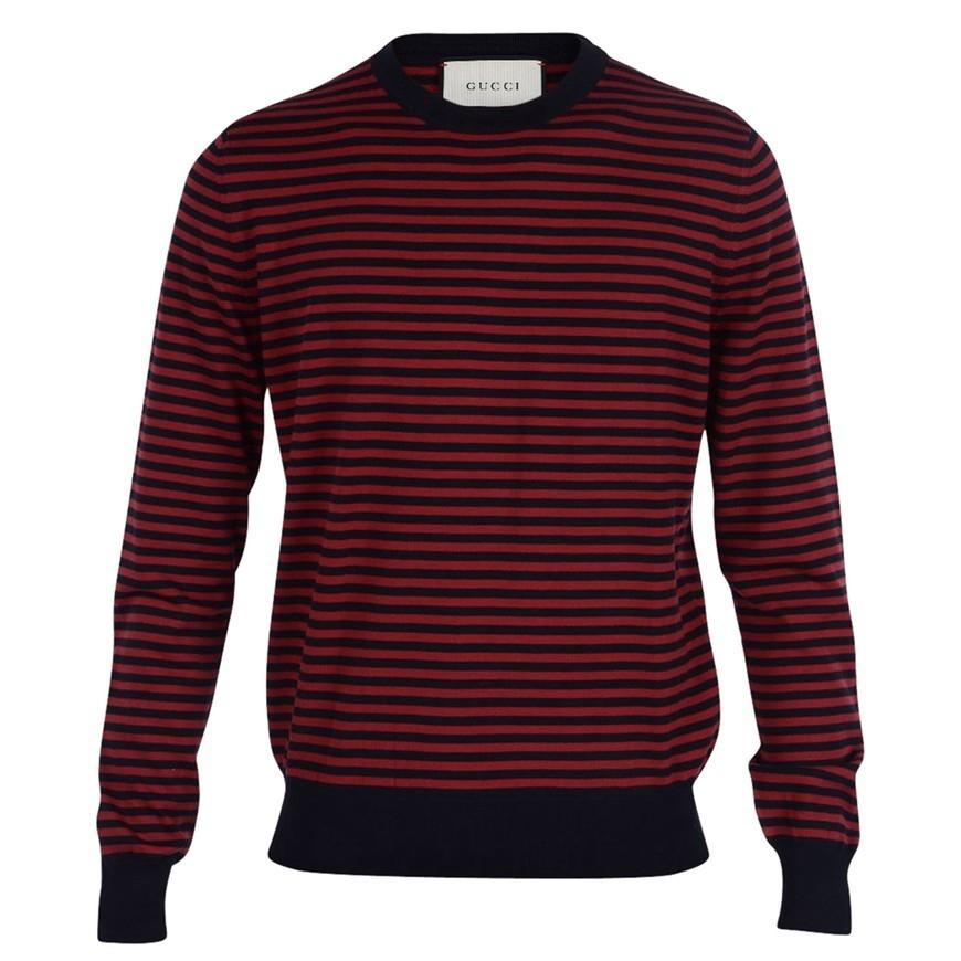 gucci blue and red striped shirt