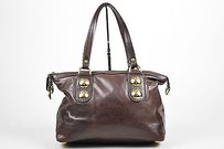 Gucci Leather Hardware Satchel in Brown