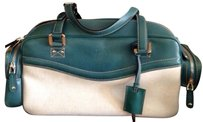 Gucci Satchel in white/green