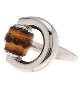 Gucci Gucci Silver Horsebit 925 Sterling Bamboo Ring