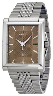 Gucci ssima Diamond Mother of Pearl Dial Stainless Steel Ladies Watch