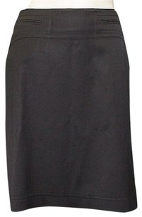Gucci Silk Blend Twill Classic Straight Pencil Hs1522 Skirt Black