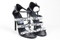 Gucci Leather Crystal Black Sandals
