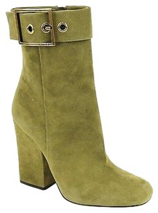 Gucci Suede Wmetal Olive Green Boots